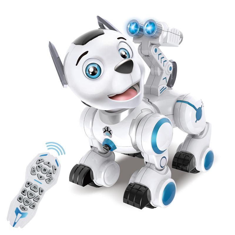 원격 제어 로봇 개 RC 대화형 지능형 걷는 로봇이 춤 강아지 장난감 전자 빛을 가진 애완 동물이 소리에 대한 아이들 Y200317