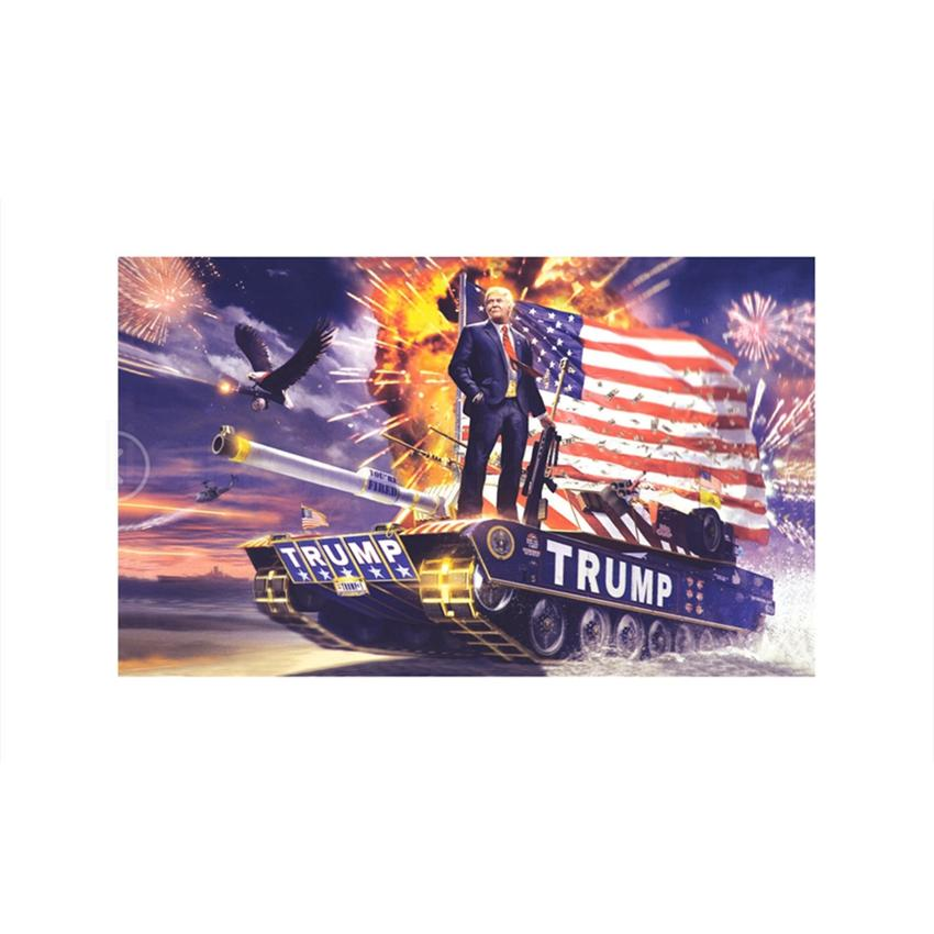 6styles 90*150cm trump flag 2020 keep America great again USA president election printed flag party decor banners FFA4047-6