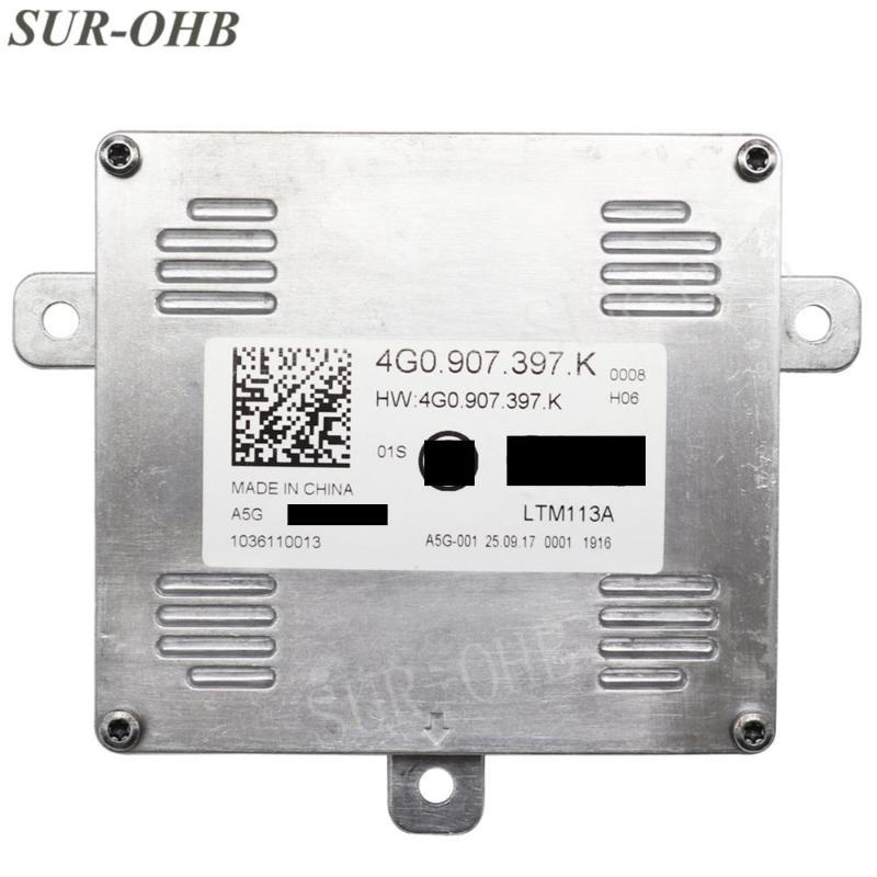 Unidad LED original 4G0907397K Parte diurna equipo Inserte faro proyector del poder de control del módulo de xenón HID lastre 1036110013
