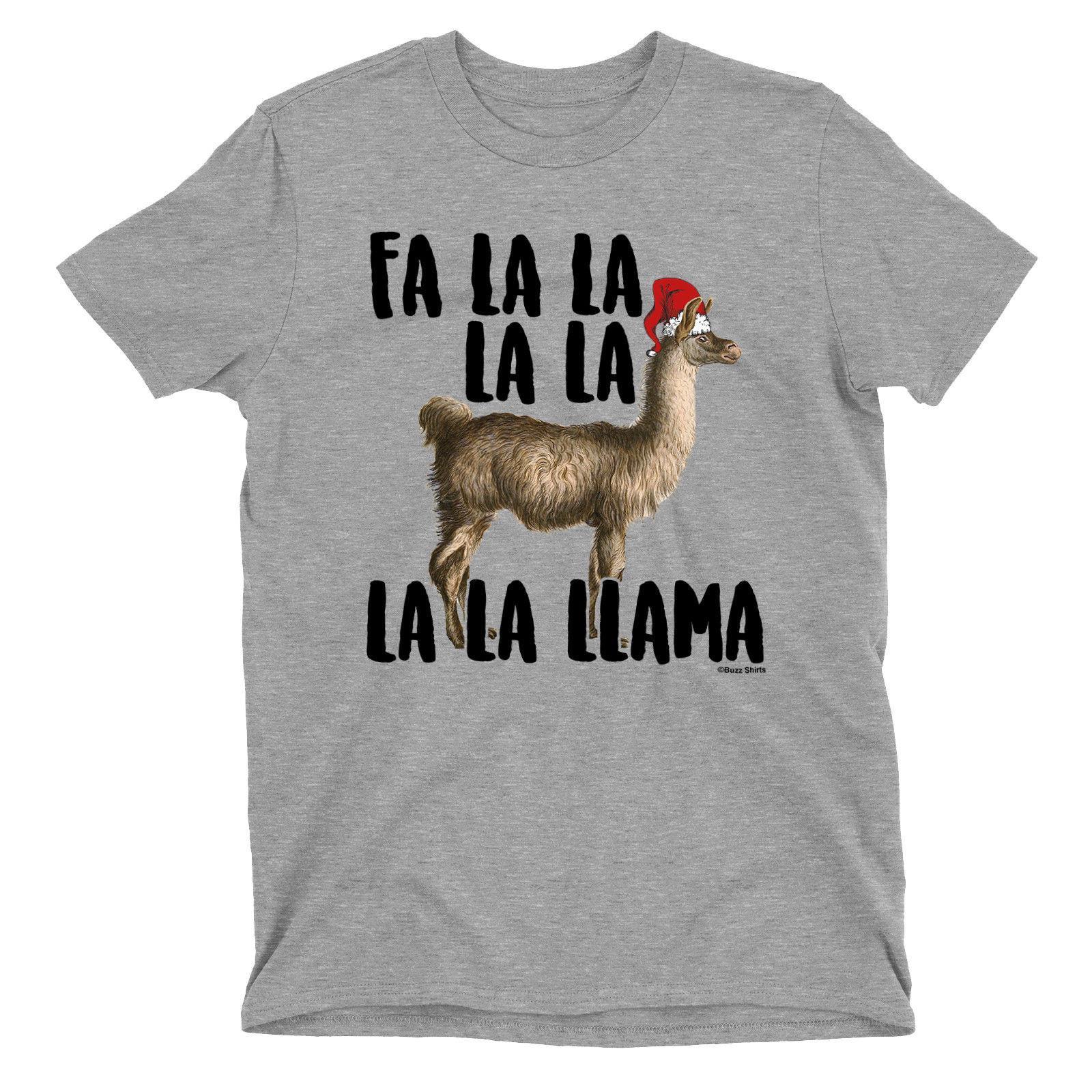 Llama Christmas Shirt.Mens T Shirt Fa La La Llama Christmas Santa Hat Funny Novelty Top Classic Quality High T Shirt T Shirt Shopping Awesome Tee Shirts From Shipcup