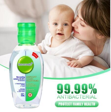 DHL Nave istantanea disinfettante per le mani Lavare libera Gel Hand Sanitizer monouso Viaggi Mini Sanitizer 50ml Disponibile