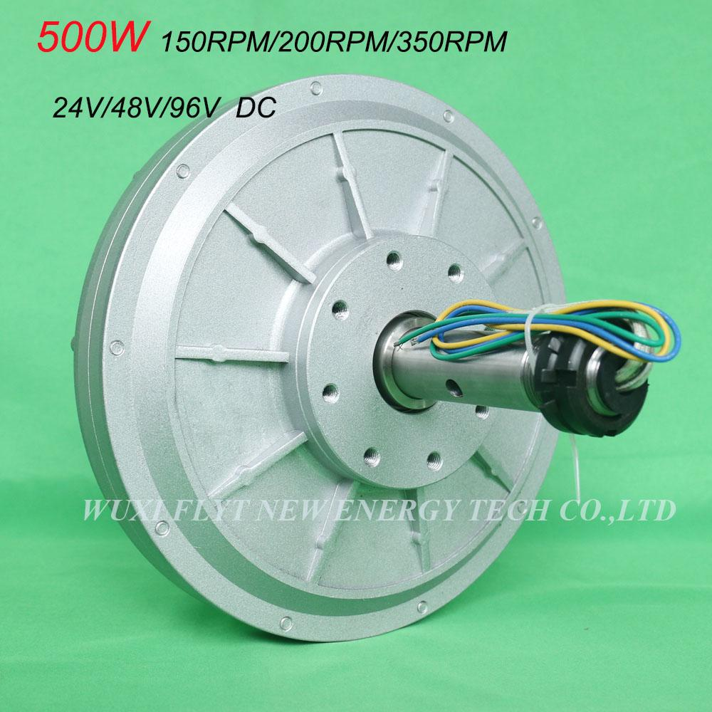 FLTXNY 500 W 24 V 48 V 96 V çekirdeksiz ac nadir toprak kalıcı mıknatıs Jeneratör düşük RPM 150 rpm / 200 rpm / 350 rpm 0.5 kw Maglev Jeneratör