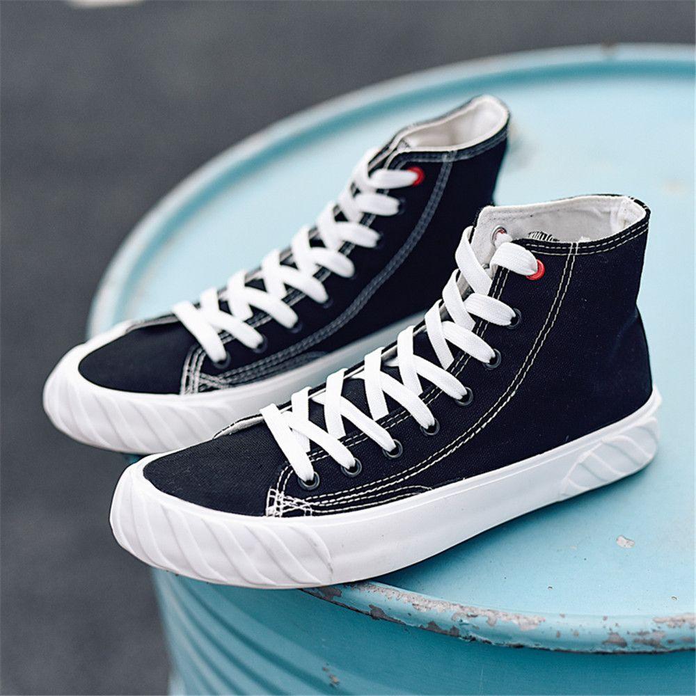 Casual Erkek Tuval Patenci Ayakkabı% 50 Moda Ulzzang Paten Sneakers Anti-kaygan Genç Sağlam plimsolls Okulu Bilek Boot Kurulu Ayakkabı