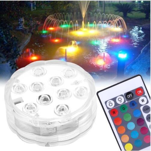 LED 방수 풀 조명 10 주도 다채로운 수족관 빛 전자 수 중 물고기 탱크 조명 깜박이