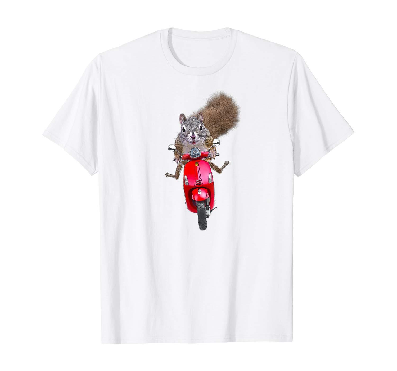 Esquilo em uma t-shirt engraçado Scooter