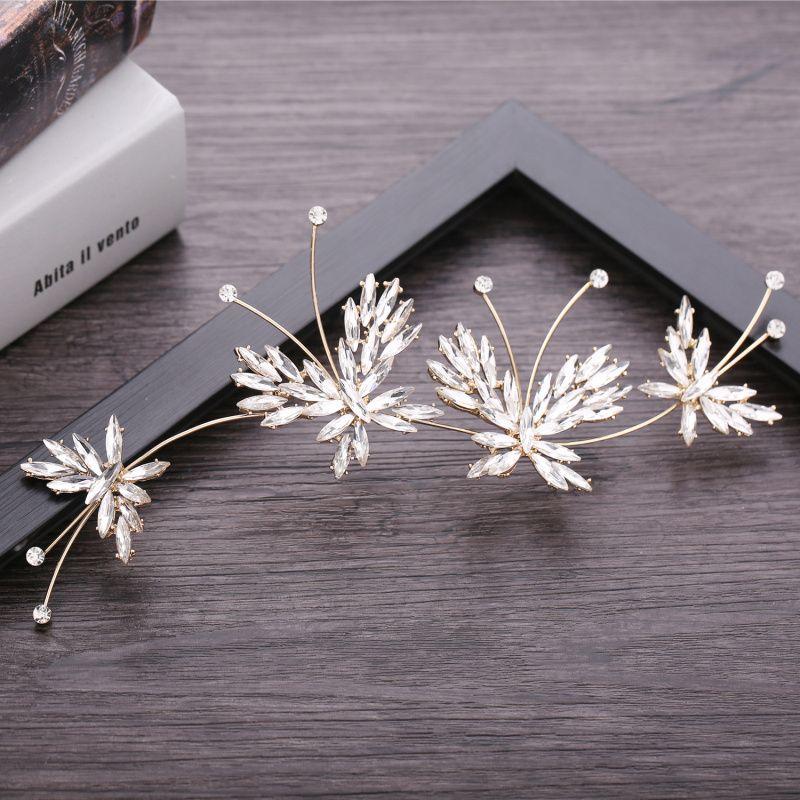 Beauty season new butterfly crystal edge CLIP elegant long style temperament wedding hair jewelry