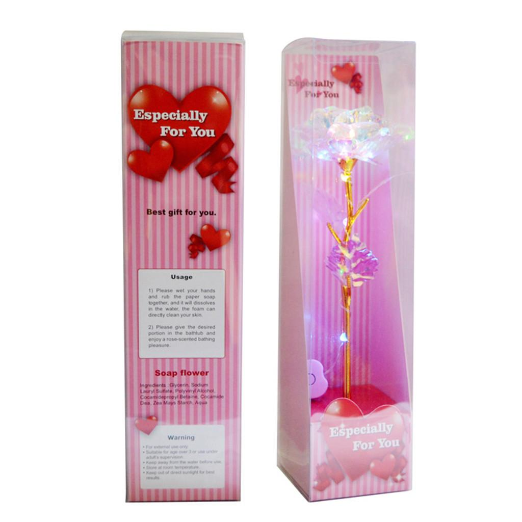 Galaxy Rose Flower Valentine/'s Day Lovers/' Gift Romantic Flower  With Love Base
