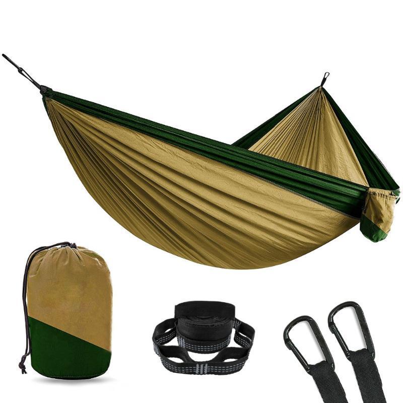 Nylon Camping Hammock mit 2 Stück Baum Straps XL 10 Fuß 2 Person Doppel Tragbare Heavy Duty Hält 700lb für Sitzen Hängesessel
