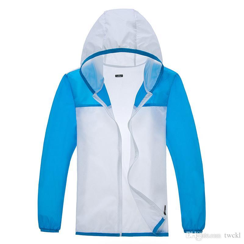 Neue Frauen-Ultra-light Quick Dry Sonnenschutz Hoodie Damen Anti-UV Outdoor-Sommer-Sonnenschutz Freizeit Sport Strand Jacke Frauen-Mantel