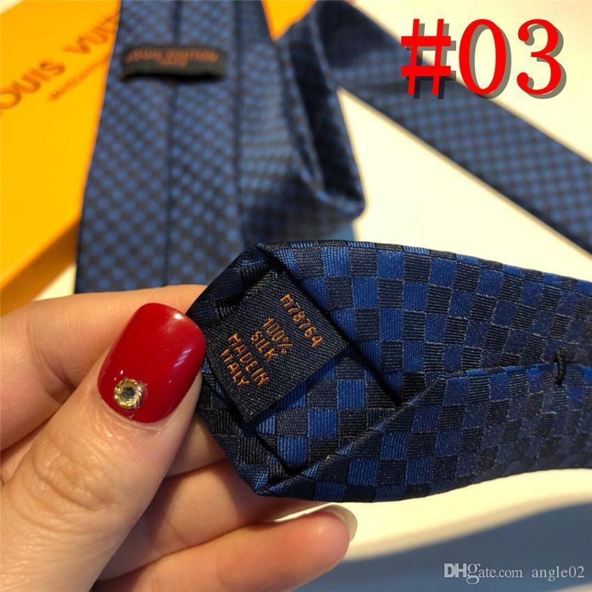19SS 2020 мода мужчины галстуки шелковый галстук мужские галстуки шеи ручной работы свадьба письмо галстук 6 стиль дизайнерские деловые галстуки роскошь
