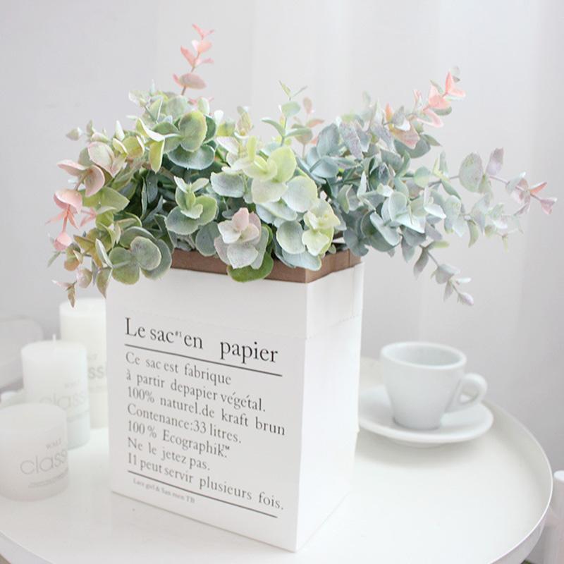 40cm Künstliche Pflanzen Kunststoff Eukalyptusblätter Topfkunstblumenschmuck Verwendetes Material für Home Hotel Hochzeit Dekoration