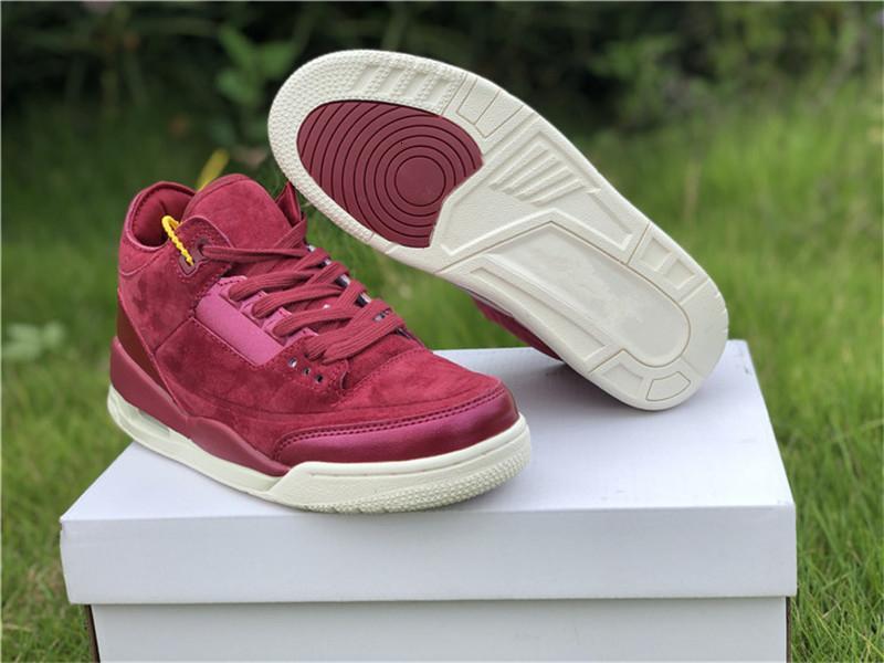 Orijinal Kutusu Şarap Kırmızısı Iii 3s Doğa Sporları Ayakkabı ile Yüksek Kalite 3 Bordo Bayan Basketbol Ayakkabı Stil Kodu Ah7859-600