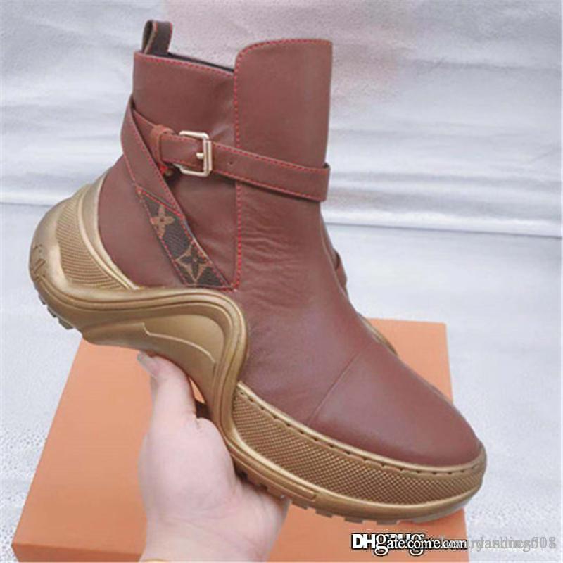 2019 Marca del diseñador de moda de lujo zapatos de las mujeres zapatillas de deporte de la superestrella ARCHLIGHT PLANA bota del tobillo Zapatos de mujer de alta calidad ocasional Calzado deportivo