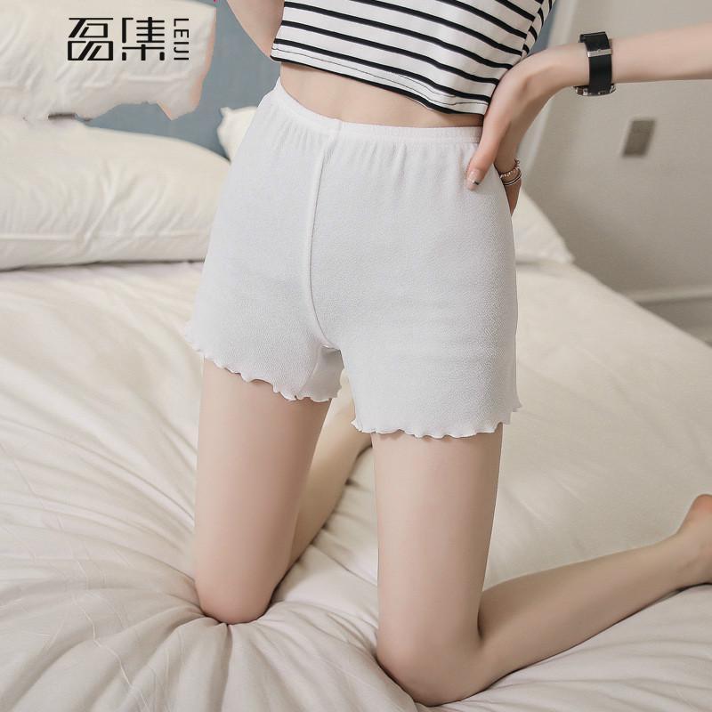 Pantalón corto para mujer de seguridad para mujer Burbuja de algodón Algodón Tallas grandes Elásticos Pantalones cortos de seguridad de verano sólidos