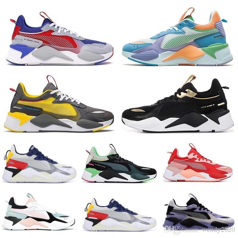 2020 erkek tasarımcı koşu ayakkabıları erkekler kadınlar gündelik rs-x yeniden icat oyuncaklar Üçlü Beyaz Siyah Mavi Mercan Turuncu eğitmenleri spor ayakkabı 36-45