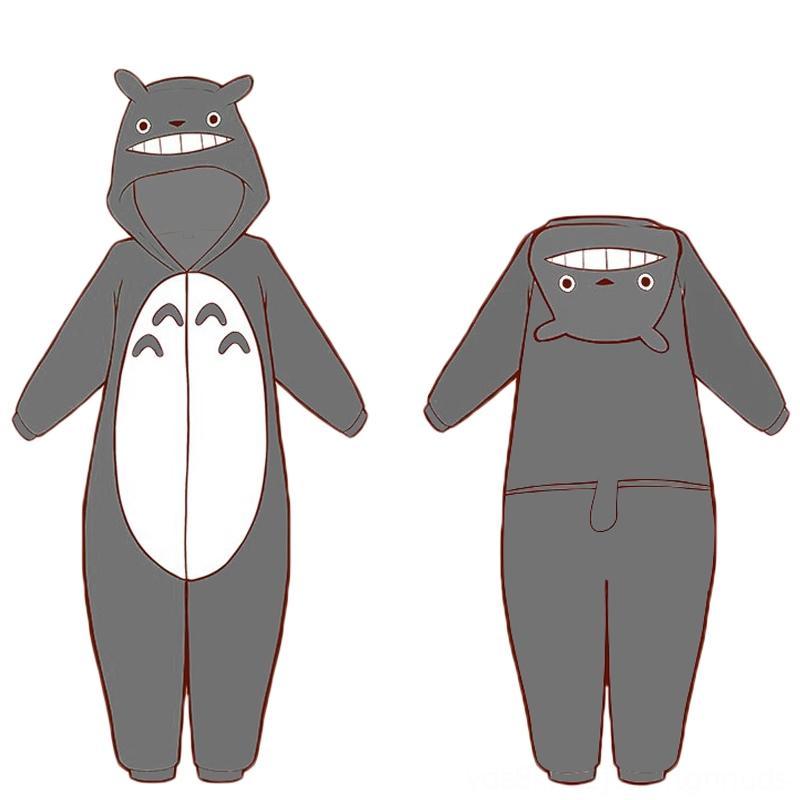 Flannel Thicken Totoro anime cartoon pajamas Cosplay Blankets & Swaddling Nursery Bedding Costumes Women Man Flannel Pajamas Adult Kids Cott