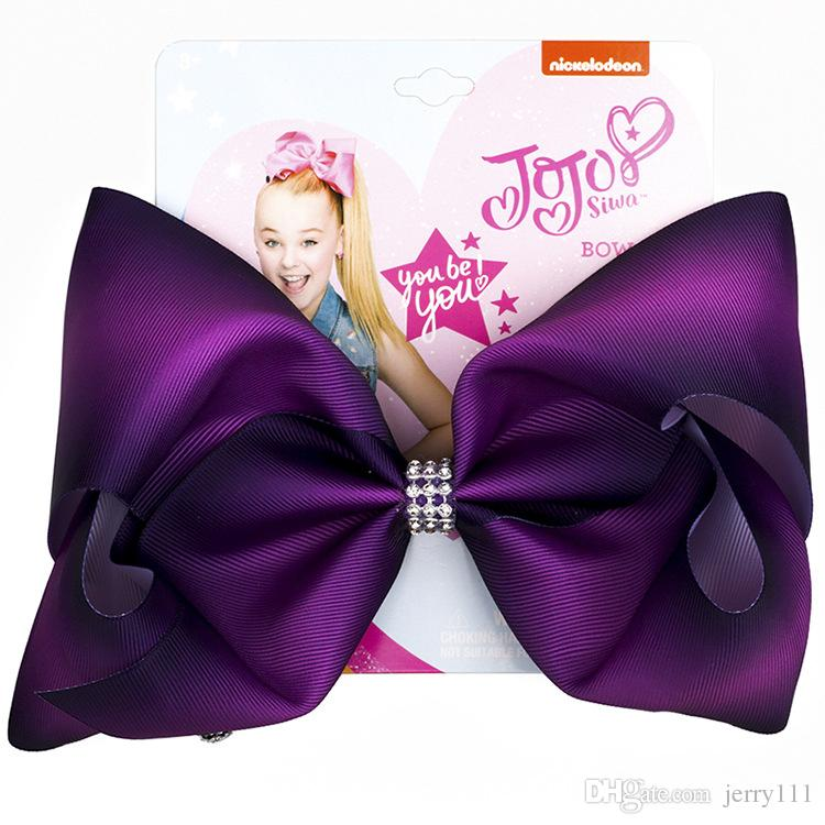 JOJO Siwa Hair Bows 11 Colors Jojo Bows With Clip hair accessories for girls 8 inch Large Rainbow Hair Bow JSS120