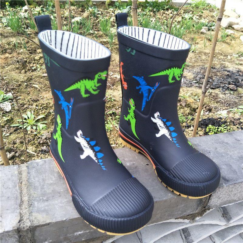 Non Slip Rubber Boots Warm Four Seasons Suit Boys Girls Waterproof Water Shoes