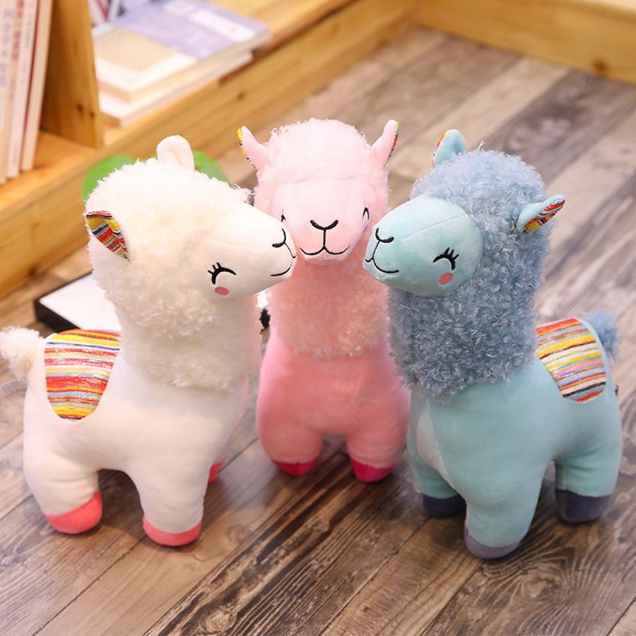 Schöne Alpaka-Lama-Plüsch-Spielzeug 25CM nette Tierplüschtiere Puppen weicher Plüsch Alpaka Kinder Spielzeug-Partei-Bevorzugung TTA2086