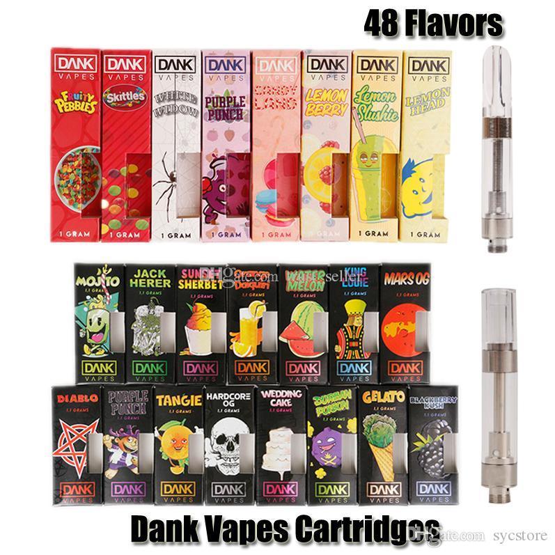 New Black Box Dank Vapes Cartridge G5 Screw 1 0ml 1Gram Ceramic Coil 510  Vape Carts Thick Oil Cartridges Tank Vaporizer 48 Flavors Vape Vaporizer  From