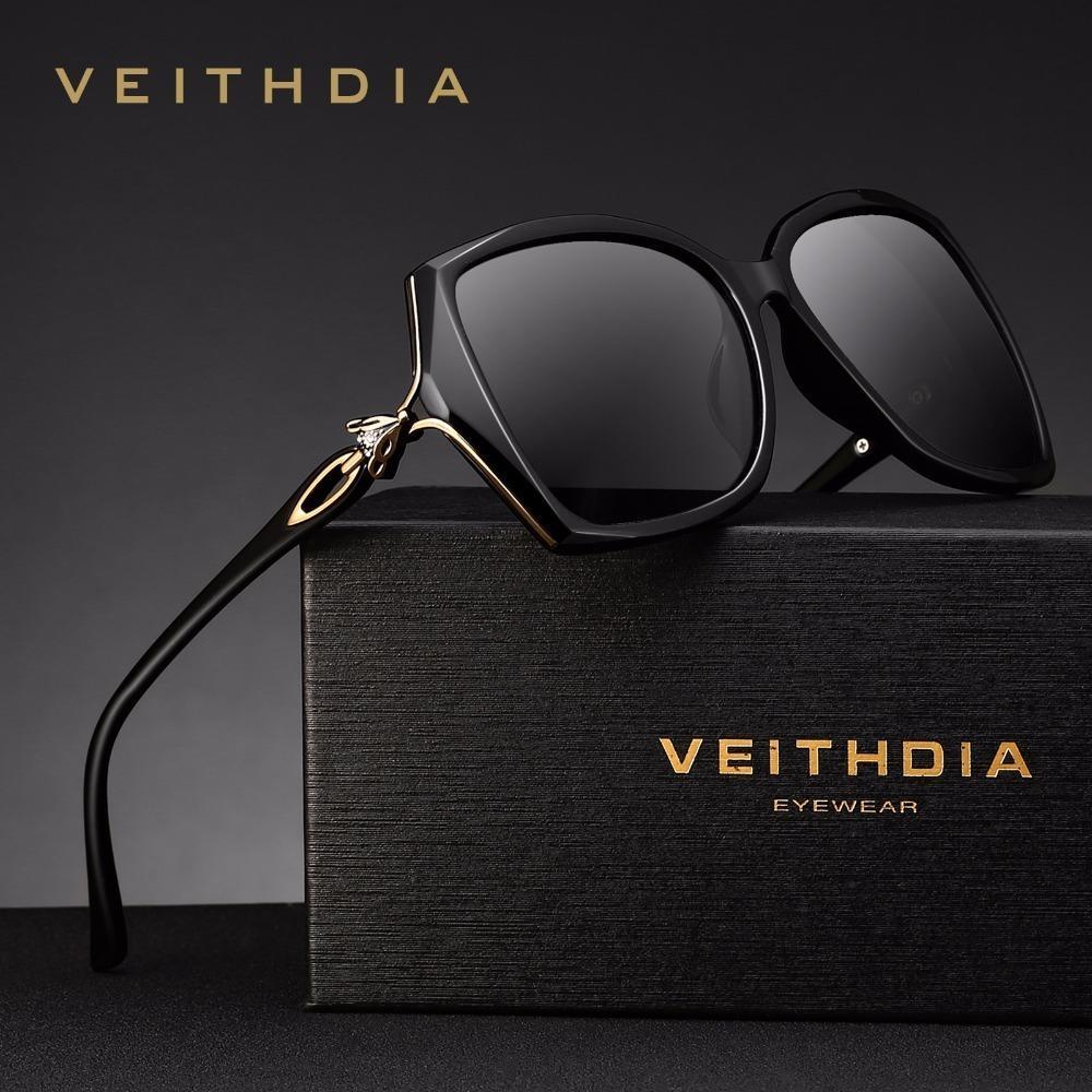 Veithdia Retro Bayan Güneş Gözlükleri Polarize Lüks Bayanlar Kadınlar Için Marka Tasarımcı Güneş Gözlüğü Gözlük Kadın V3039 Y19052004