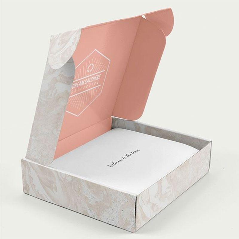 사용자 정의 로고 인쇄 리지드 종이 포장 구독 메일 상자 우편 배송 골 판지 골 판지 상자
