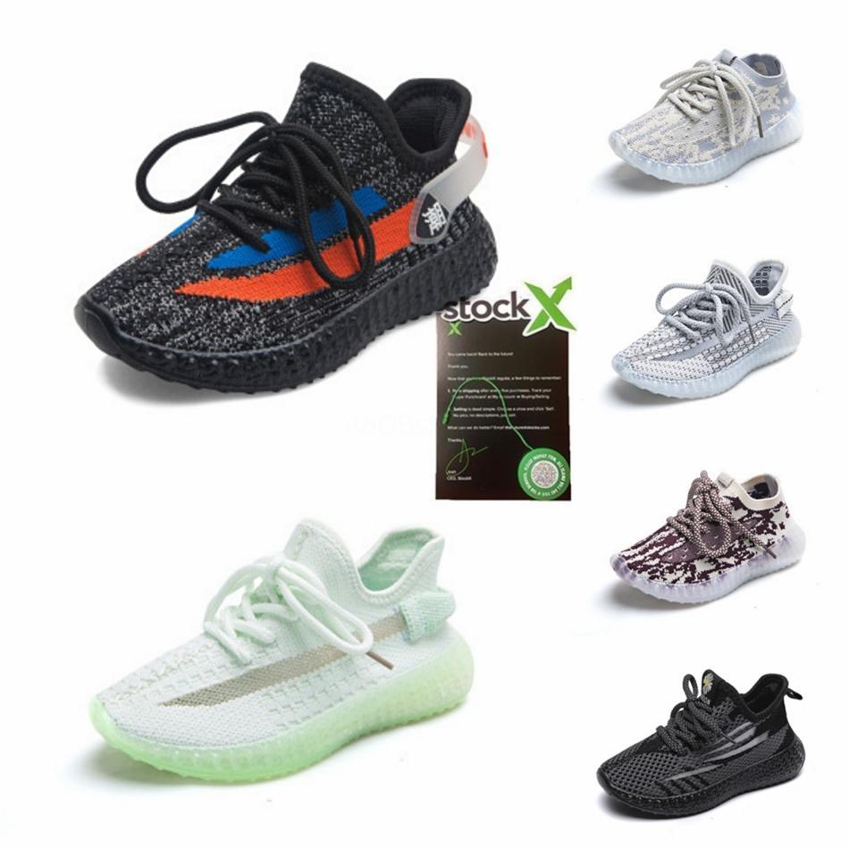 Zapatos para niños Nycool para los zapatos de la muchacha del deporte del muchacho Kanye West Tejiendo Knit zapatillas de deporte corrientes del niño de los niños de zapatos unisex # 883