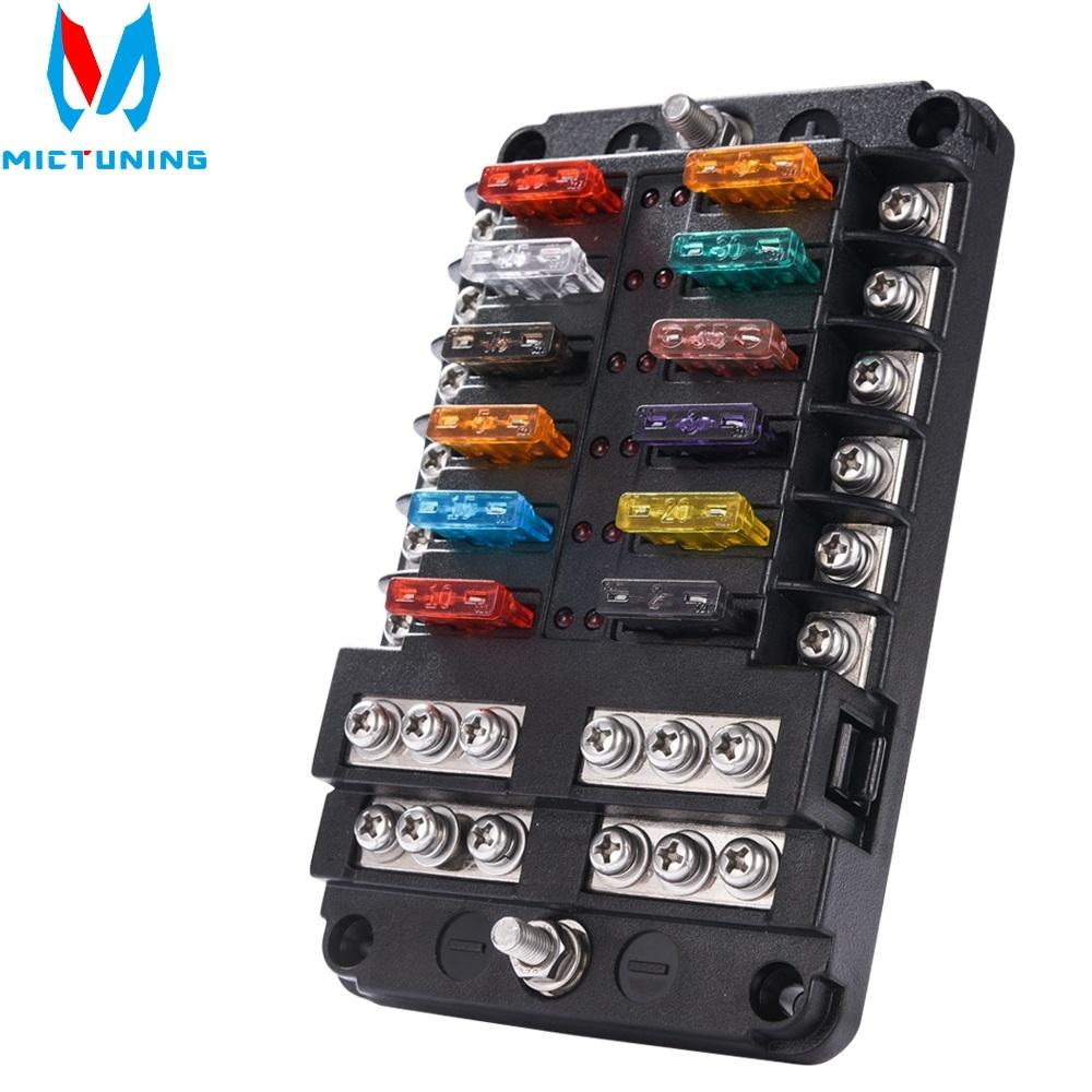 2020 mictuning 6/12 way circuit car fuse box waterproof 32v terminal fuse  box block auto car holder with led indicator sticker from atuomoto, $25.06  | dhgate.com  dhgate.com