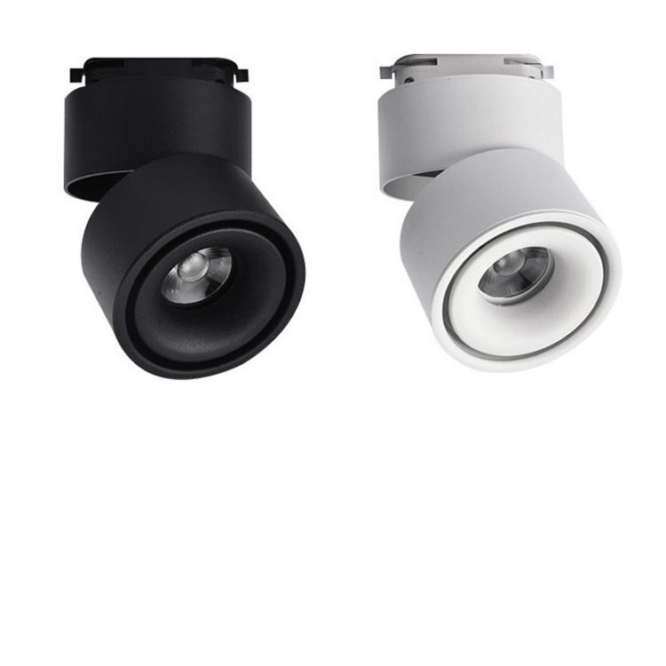 5W 12W 레일 트랙 조명기구의 COB 천장 조명 레일 스포트 라이트 LED 트랙 빛 AC85-265V 블랙 / 화이트 가이드 레일 트랙 빛