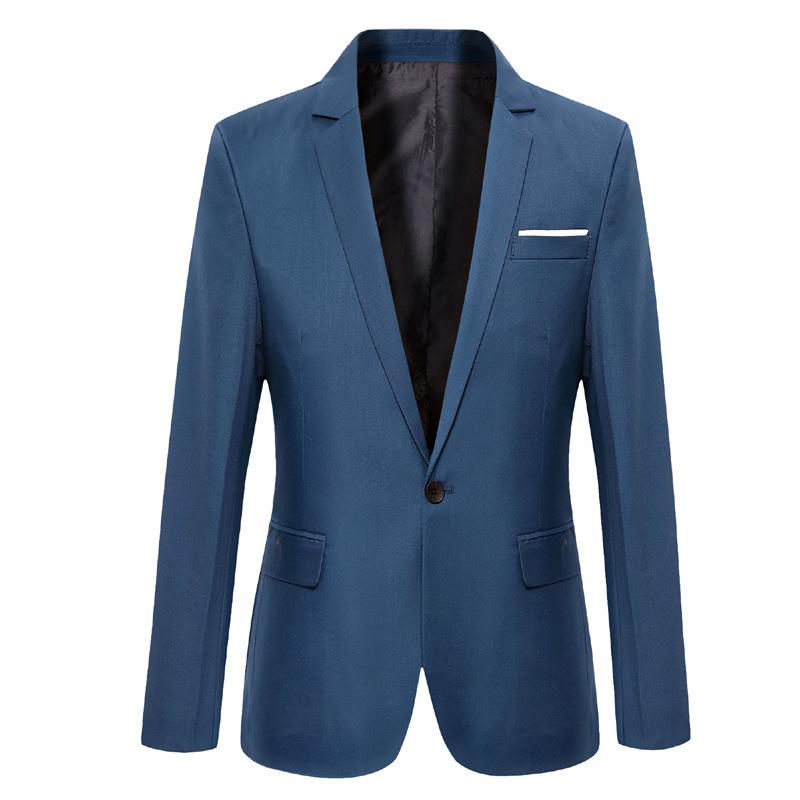 2016 Outono E Inverno New Style HOMENS Suit Men coreana de estilo Brasão-Style Slim Fit Suit simples HOMENS Suit
