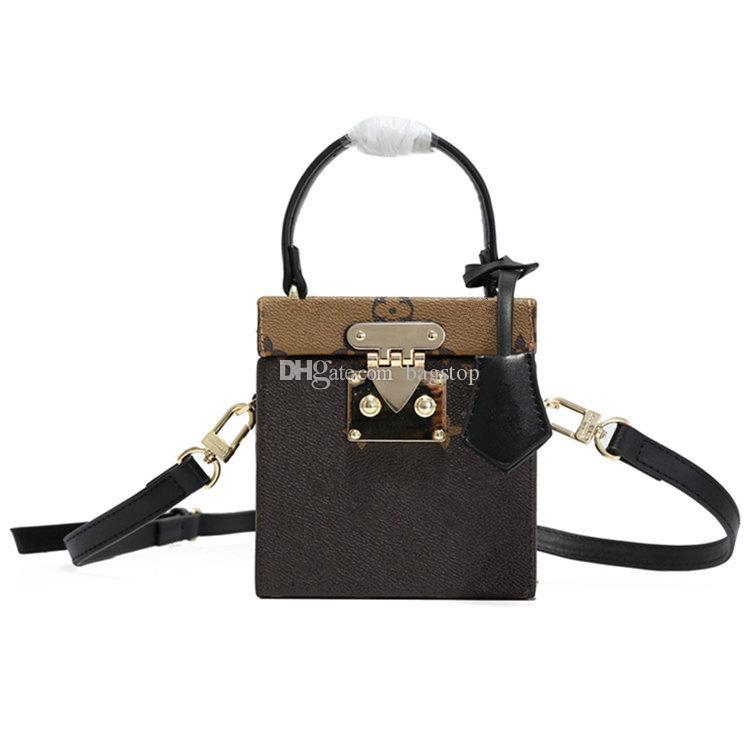 S-모양의 잠금 최고의 선물 클래식 가방 상자 디자인 핸드백 어깨 가방 M52466 fahsion 여성 가죽 크로스 바디 가방 지갑