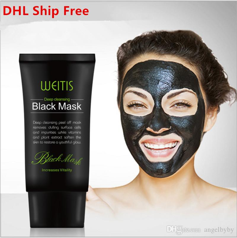 WEITIS Black MASK 50ML Deep Cleansing Peel Off Mask Face Nose Blackhead Removal Purifying Facial Mask DHL Shipping Free