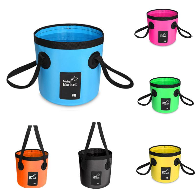 New Water Bucket Durable Water Bag Car Wash For Camping Fishing Cleaning Gardening Portable Folding Bucket barrel Outdoor Traveling M238Y