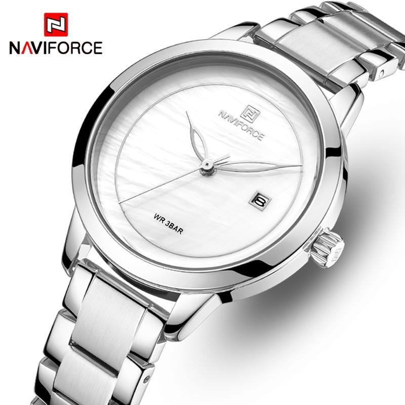 NAVIFORCE Top Brand Luxury Женские часы водонепроницаемый моды женские часы женщина кварцевые наручные часы Relogio Feminino Montre Femme