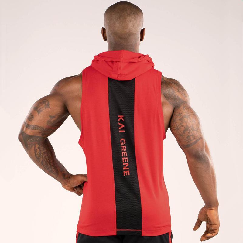 Мужчины бодибилдинг капюшоном майка хлопок жилет без рукавов для тренировок тренажерные залы фитнес тренировки свободного покроя мода топы мужской стрингер рубашка