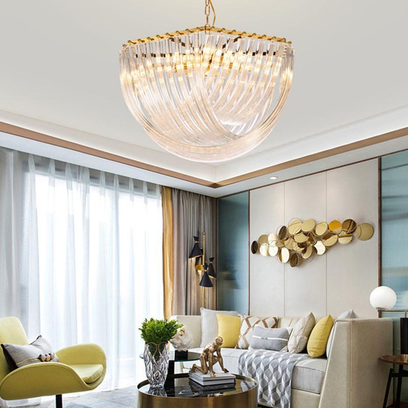 Kristalllampe Einfache Kreative Persönlichkeit Esstisch Esstisch Esszimmer Lampe Nordische postmoderne Glas Licht Luxus Kronleuchter