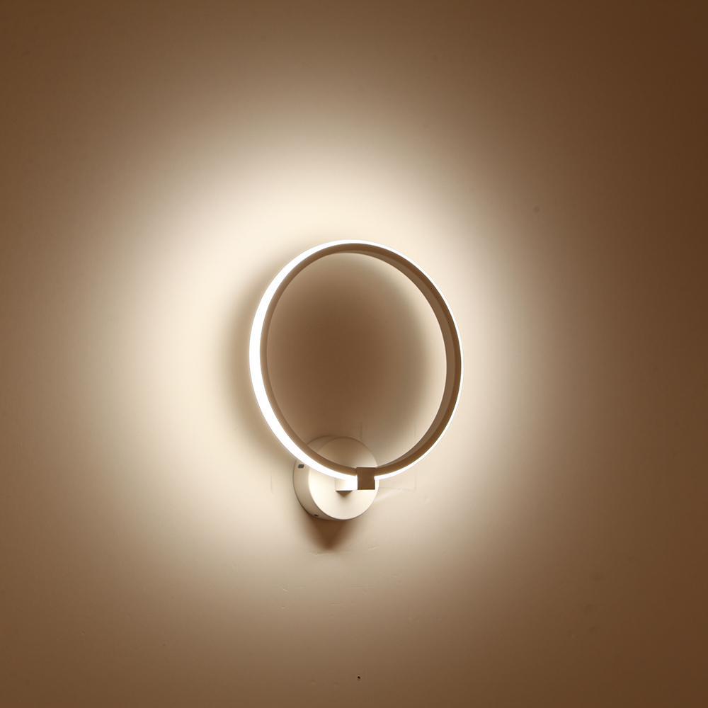 Lampada da parete a led bianca nera moderna di design nordico Appliques per scale per la casa della camera da letto del loft
