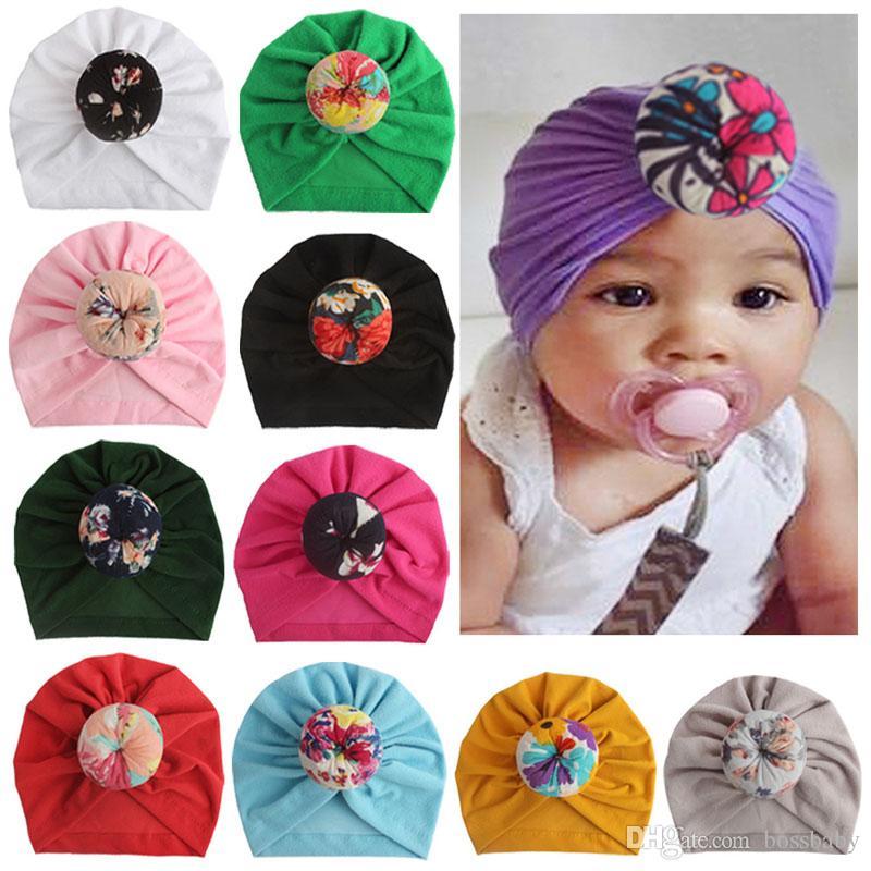 Kids Baby Hats 11 Design Printed Winter Children Caps Newborn Girls Caps Boys Hat Girls Cap 07