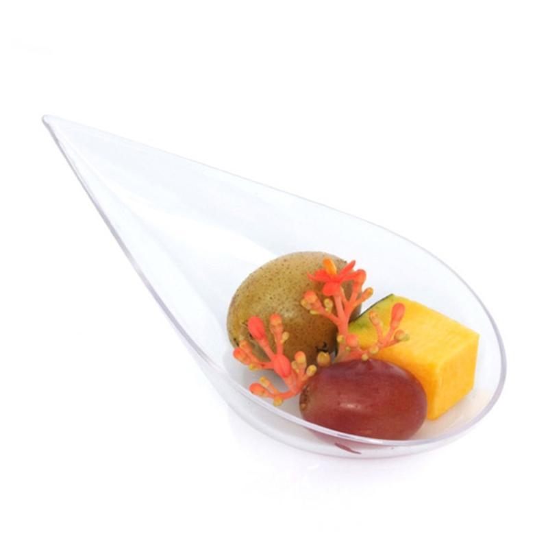 Jetable Dessert Cuillère Mini gâteau Cuiller Party en plastique dur pour le Festival de mariage Décoration