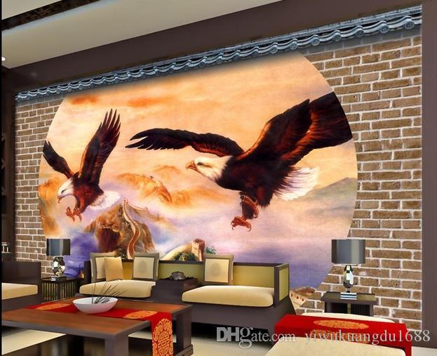 Dapeng classico diffonde la carta da parati della parete della parete della grande muraglia per le pareti 3 d per il salone
