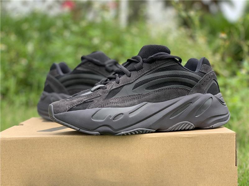 Seksi Satış Kanye West 700 V2 Vanta Ayakkabı Atalet Tuz Leylak Analog Dalga Runner Sneakers Tasarımcı Mans Kadın Otantik Spor Ayakkabı Koşu