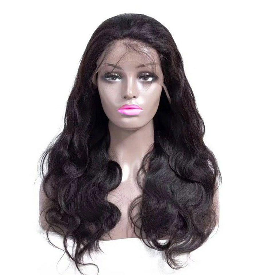 Gluless Körper-Wellen-Spitze-Stirnseite Perücke 13x4 brasilianische Nass- und Wellenförmige Spitze-Front-Menschenhaar-Perücken mit Baby-Haare transparente Spitze Perücken
