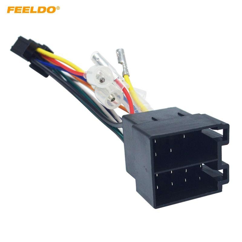2019 FEELDO Car Stereo Radio ISO 16 Pin PI100 Wire Harness Adapter on