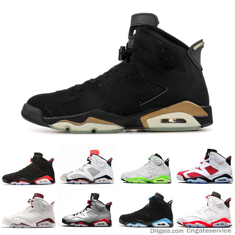 2019 Shoes Dmp 6 Psg 6s basquete masculino Unc Tinker Preto Infrared Gatorade Alternate Esporte Trigo azul Oregon Mens Sports Sneaker nós 7-13