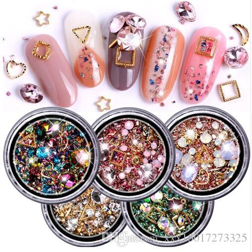 1 Box Mixed Colorful Rhinestones For Nails 3d Crystal Stones For Nail Art Decorations Diy Design Manicure Diamonds Nail Design Ideas Nails Design From Xxx15017273325 1 38 Dhgate Com