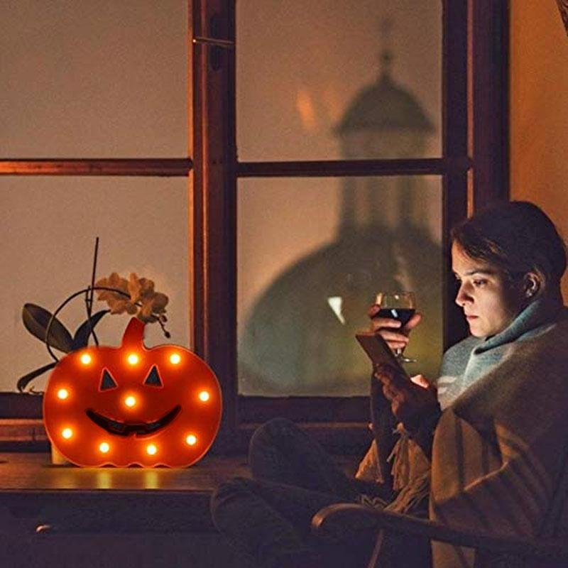 BRELONG Runshiwan Decor 밤 빛 대 한 욕실 3D 호박 LED 밤 빛 축제 자 Kids 침실 홈 Decor 책상 Lamp