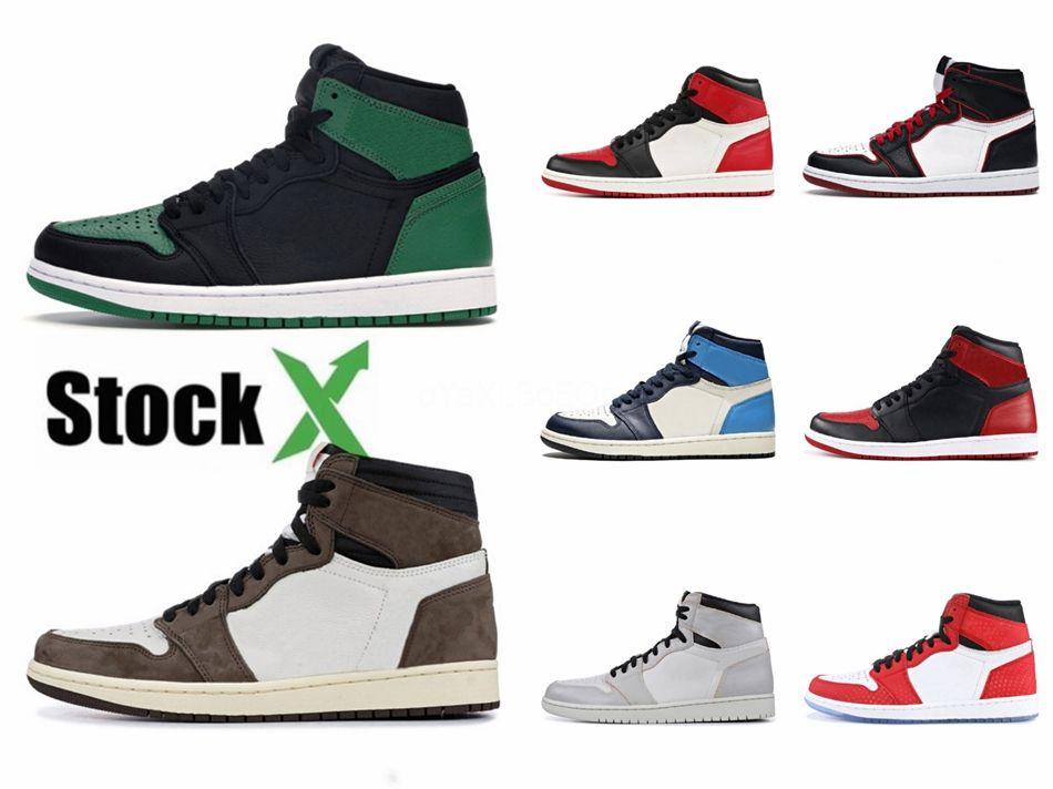 2020 Новый Разрушенные Backboard 3,0 Jumpman 1 Патентный баскетбол обувь Мужские Женские дизайнерские туфли Высокие 1S Og Тренеры Спортивные кроссовки 555088 # QA216