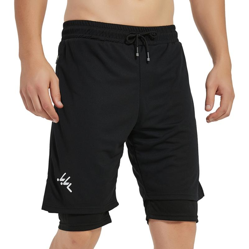 Men's Shorts Running Shorts Quick Drying Sport Gyms Fitness Bodybuilding Built-in Pockets Short Pants