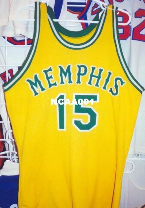 Урожай Мужчина Memphiss # 15 Dick Bosak 1972-74 Главной РЕТРО Mesh ткани Полной вышивка Размер S-4XL или настраиваемое любое имя или номер колледж Джерси