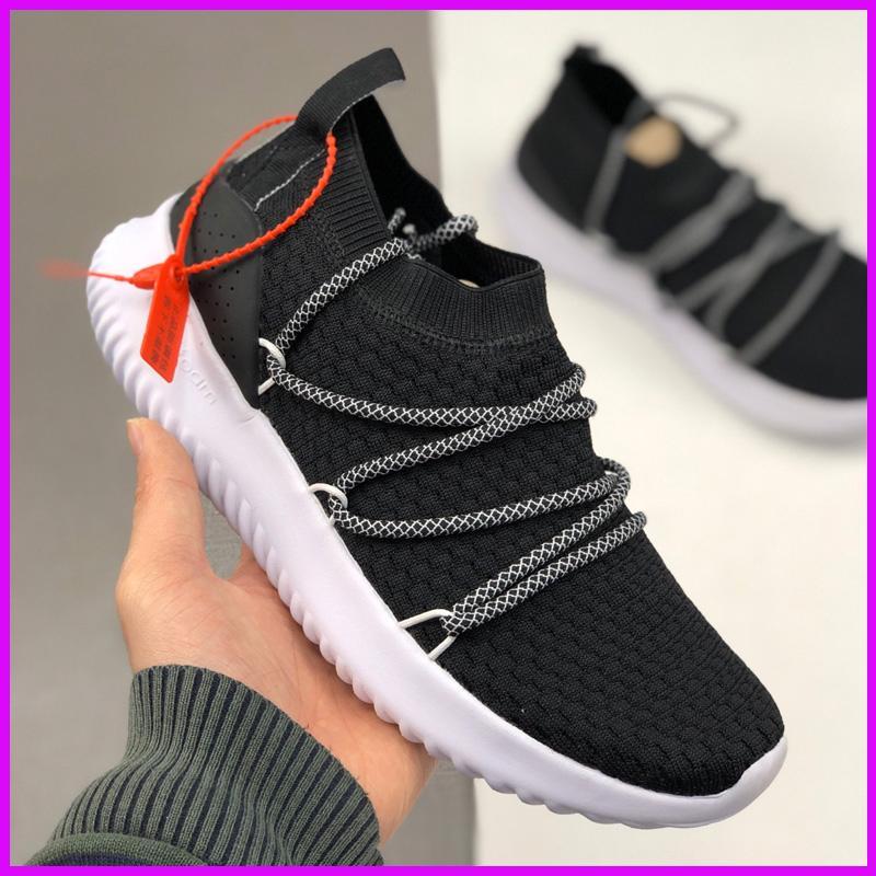 zapatos de diseño Mens de la compra Neo Clásico zapatillas de deporte de moda deporte al aire libre hombre que corre formadores Chaussures blanco gris negro venta